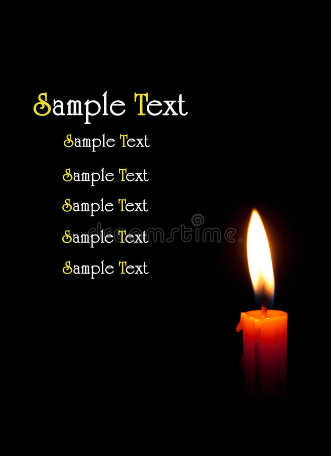 Download Single burning candle stock photo. Image of decoration - 39506540