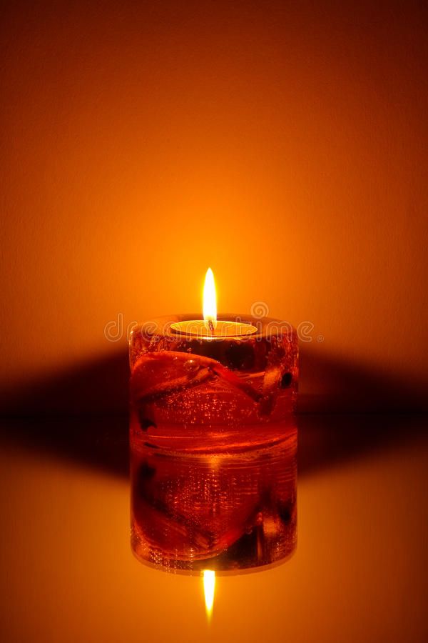 Single candle royalty free stock image