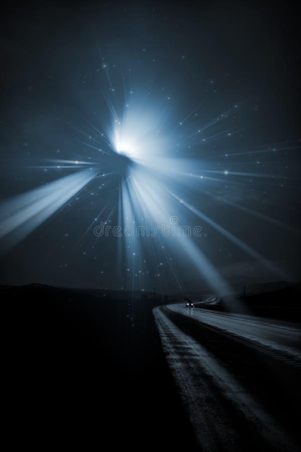 Download Single Car Travels On  Road Stock Illustration - Illustration of rain, asphalt: 14116712