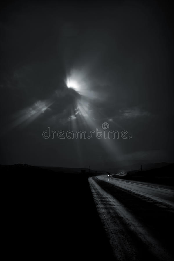 Download Single Car Travels On Road Stock Images - Image: 15597854
