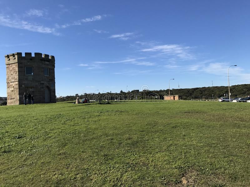 Idependent Castle. Idependenttronghold at La Perouse, Australia with grassfield among the castle royalty free stock photography