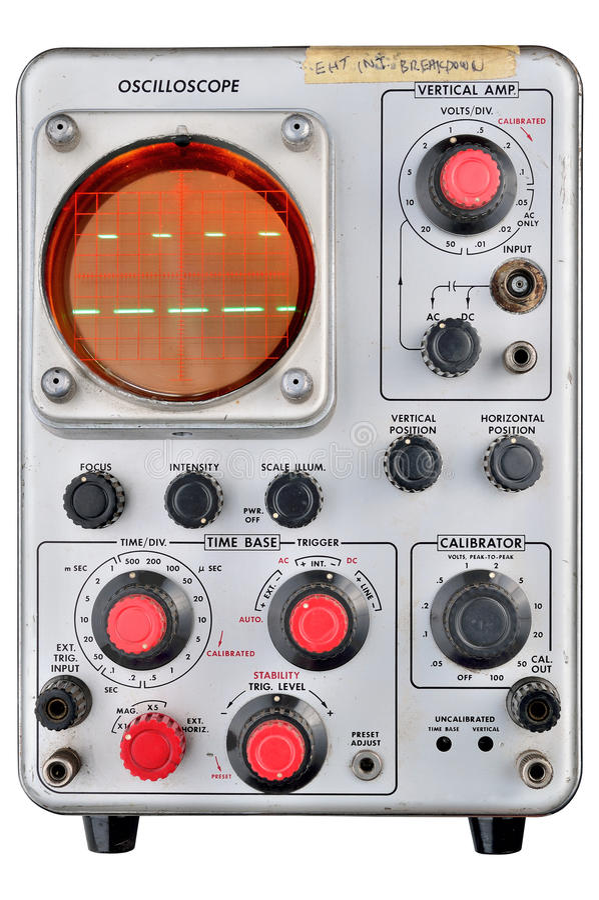 Oscilloscope Image Of B : Single channel oscilloscope royalty free stock photos