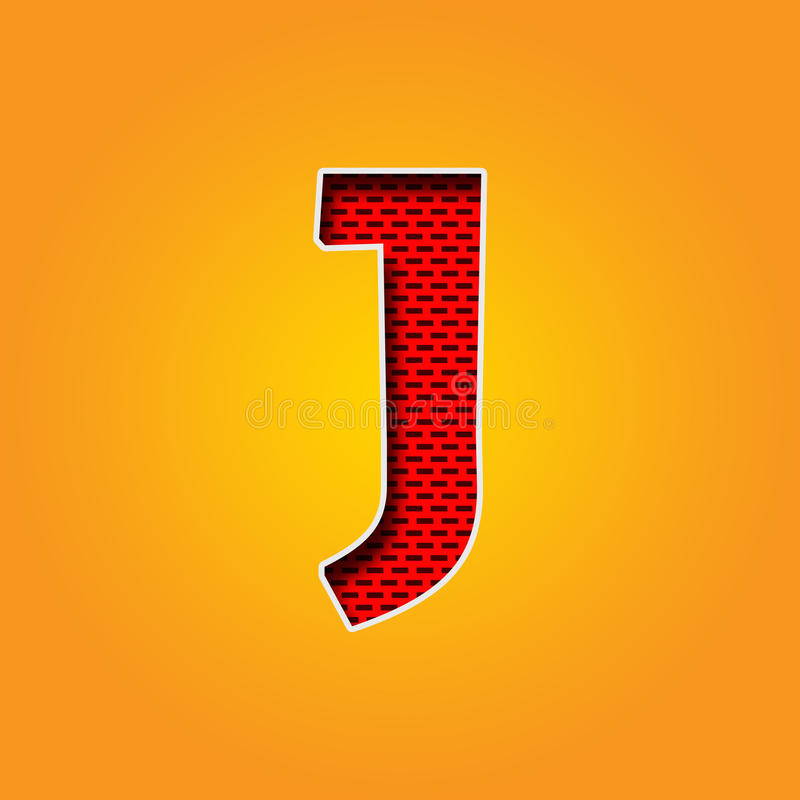 Single Character J Font In Orange And Yellow Color Alphabet Stock ...