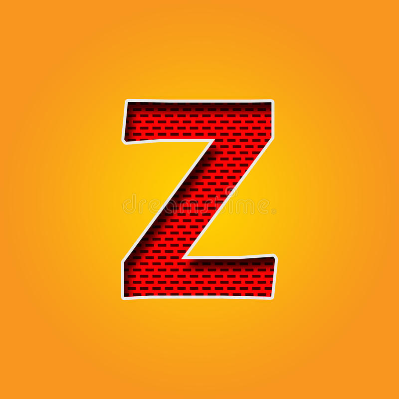 Single Character Z Font In Orange And Yellow Color Alphabet Stock ...
