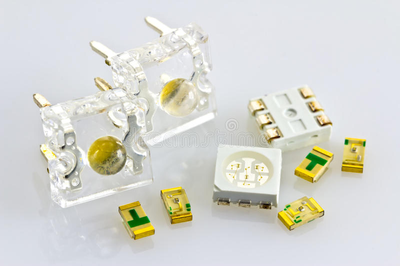 Download Single-chip And Three-chip SMD Stock Image - Image of yellow, electronic: 26006961