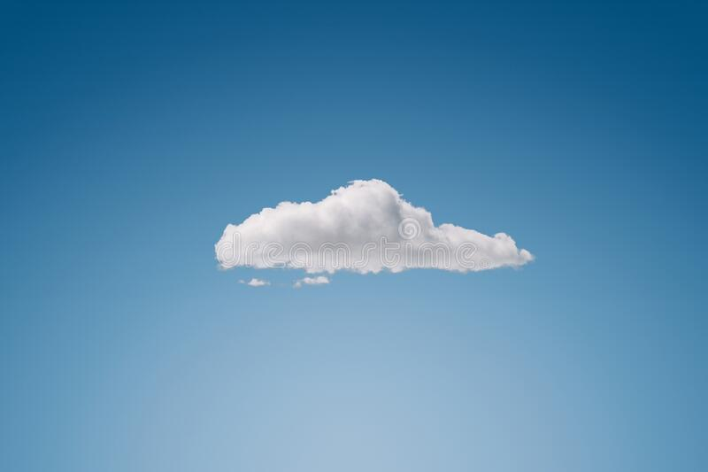 Single cloud at the blue sky stock photo