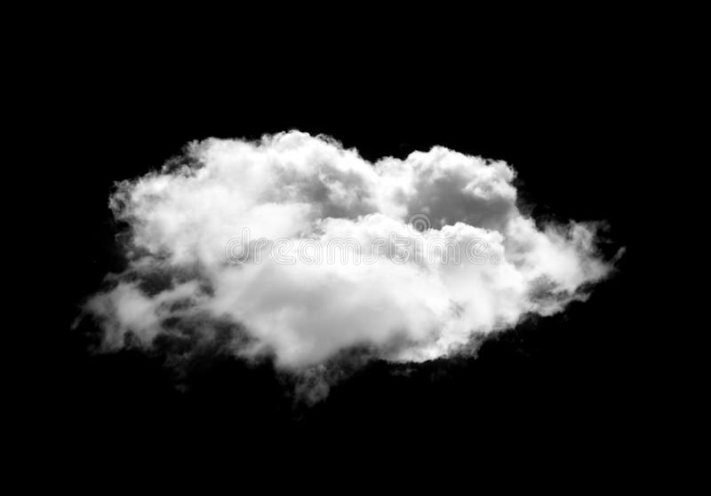 Single cloud illustration isolated over black background stock photography