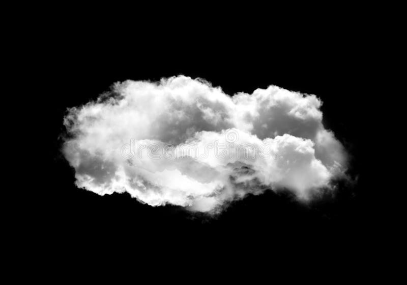 Single cloud illustration isolated over black background stock images