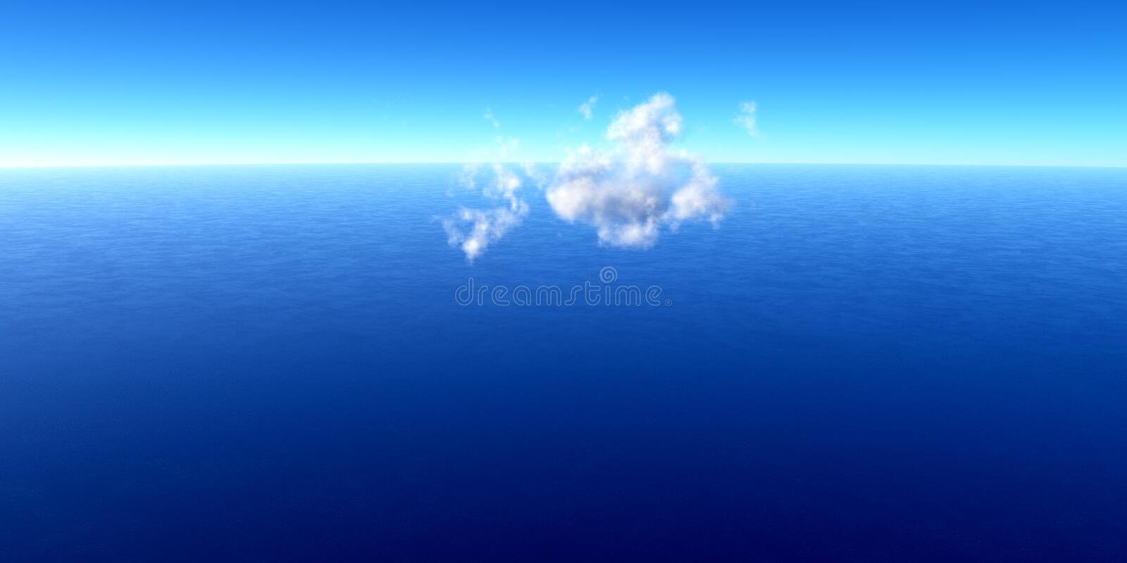 Single cloud over the ocean royalty free stock images