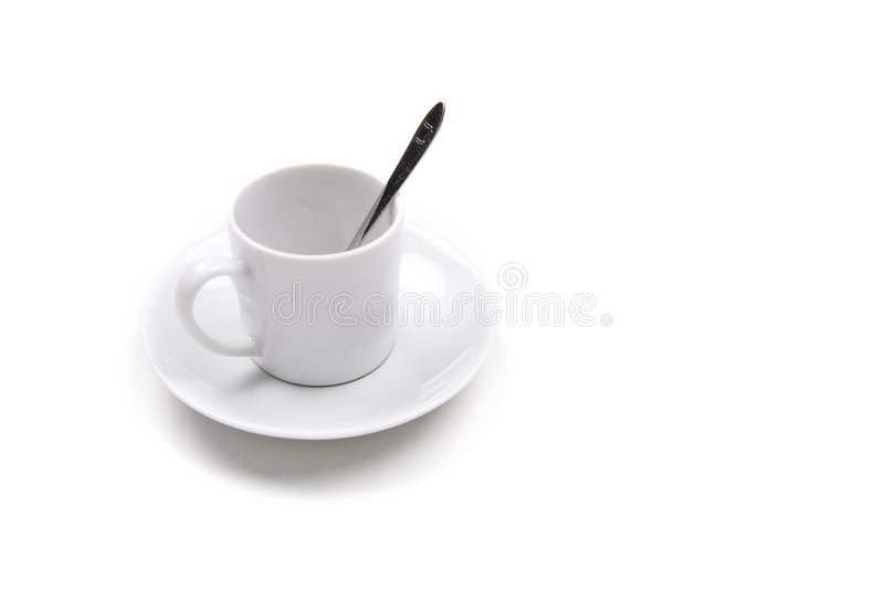 Download Single Coffee Cup Isolated On White Background Stock Image - Image of background, label: 6953351
