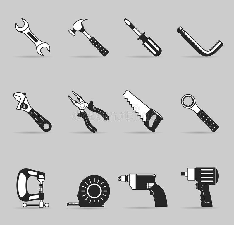 Single Color Icons - Hand Tools stock illustration