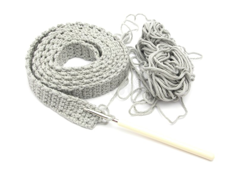 Single-colored crochet-work royalty free stock photography