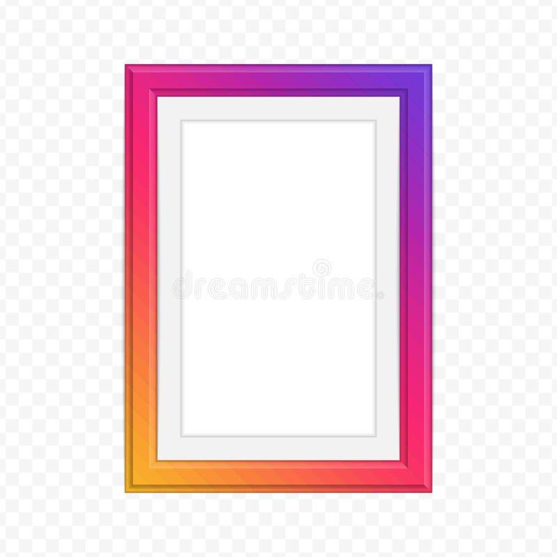 Bright photo frame. stock illustration
