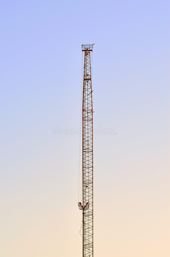 Download Single crane stock photo. Image of crane, yellow, building - 28666980