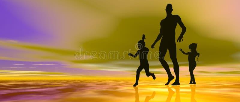 Download Single dad header stock illustration. Image of colorful - 17352985