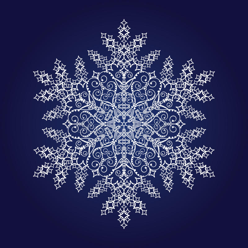 Download Single detailed snowflake stock vector. Illustration of natural - 11212313
