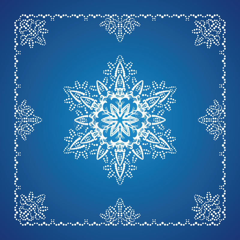 Download Single Detailed Snowflake With Christmas Border Stock Vector - Illustration: 11795928