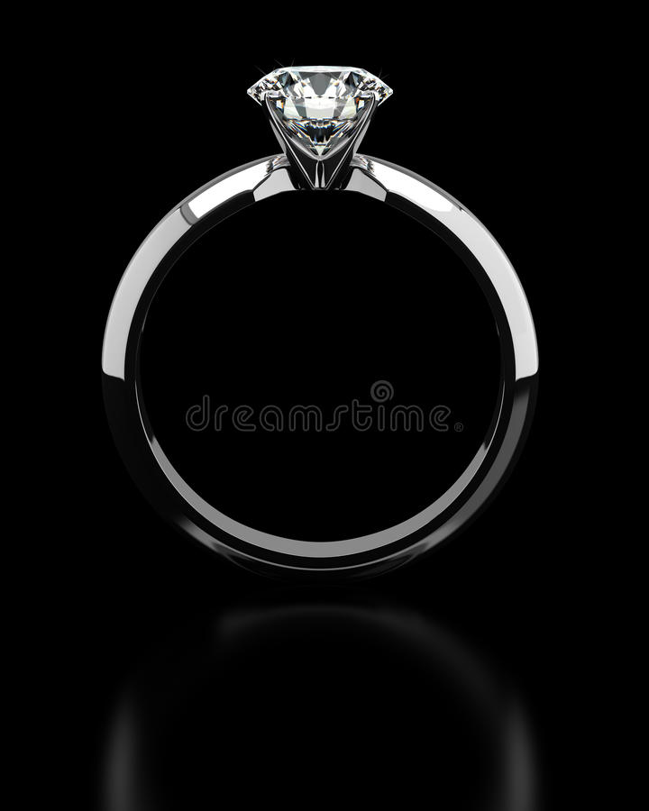 Single Diamond Ring stock photography