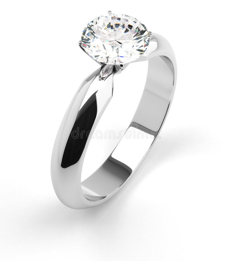 Single Diamond Ring royalty free stock image
