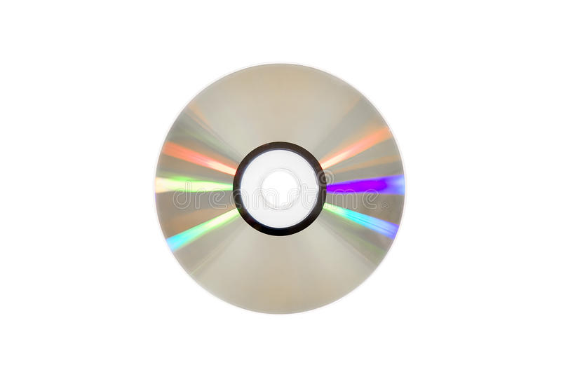 Single DVD(CD) disc. stock images