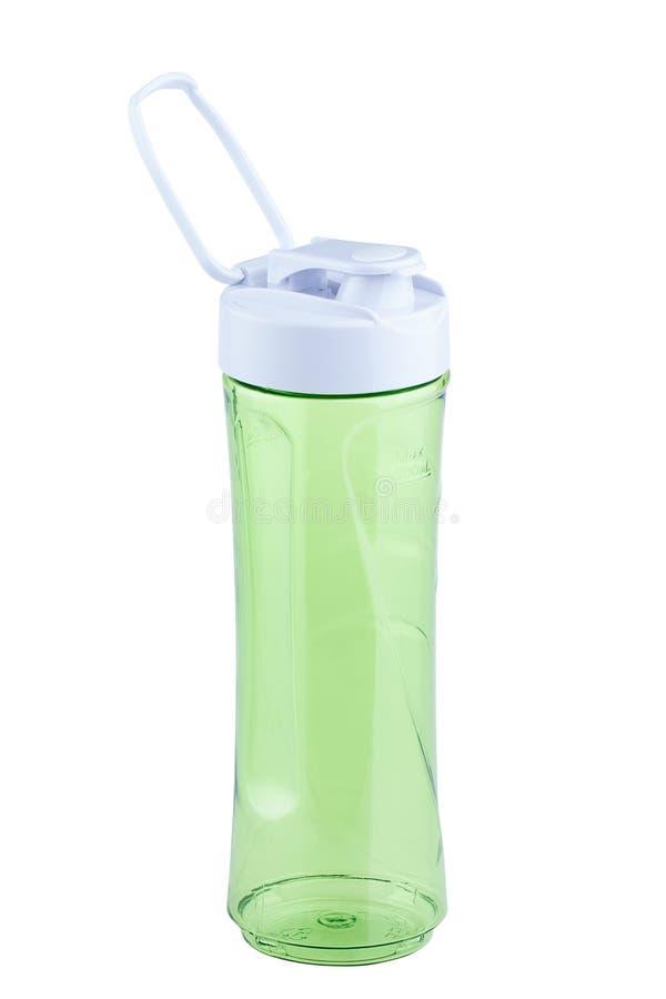 Single empty shake bottle on white background stock photography