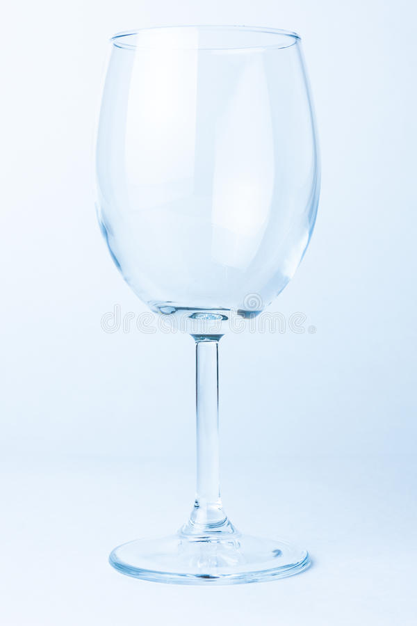 Single Empty Wine Glass Royalty Free Stock Images