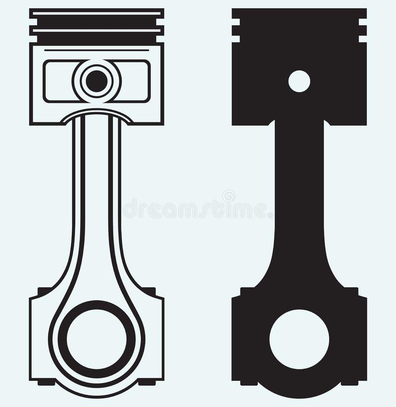 Single Engine piston. Isolated on blue background vector illustration