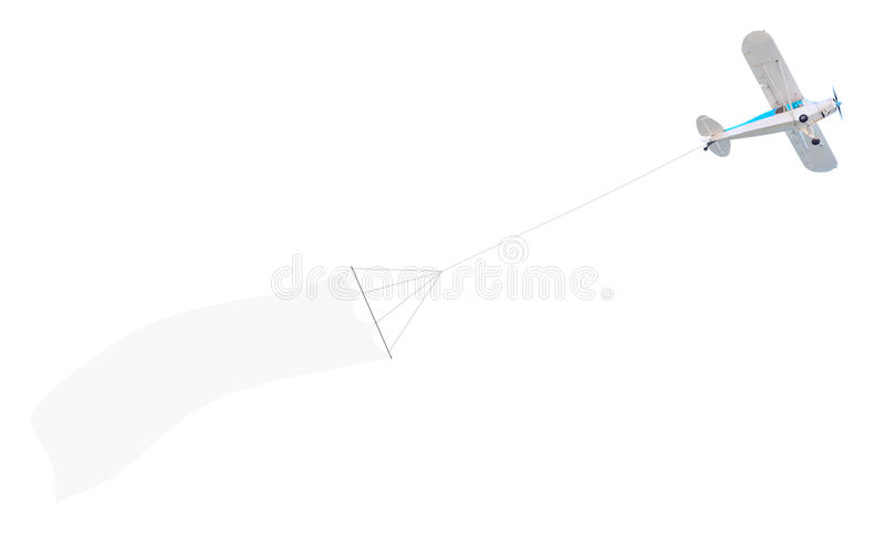 Single engine plane with banner royalty free stock photos