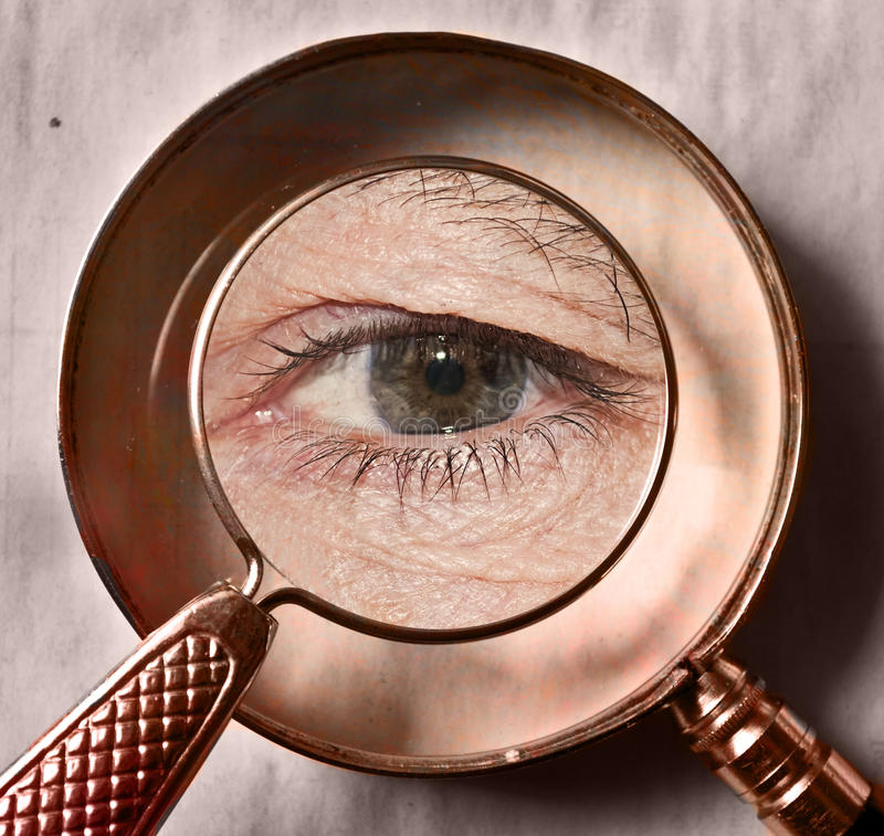 Single eye under evidence royalty free stock image