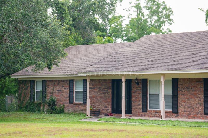 Single family house made of bricks. USA royalty free stock photography