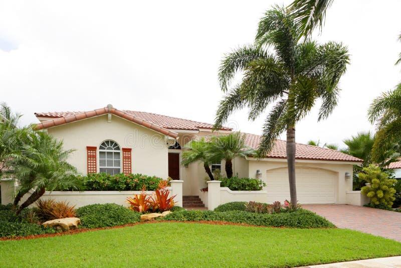 Single-family house stock image