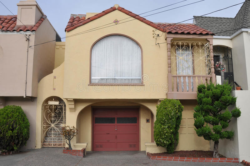 Single family house two storys with garage royalty free stock image