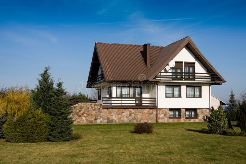 Single family medium house stock photo