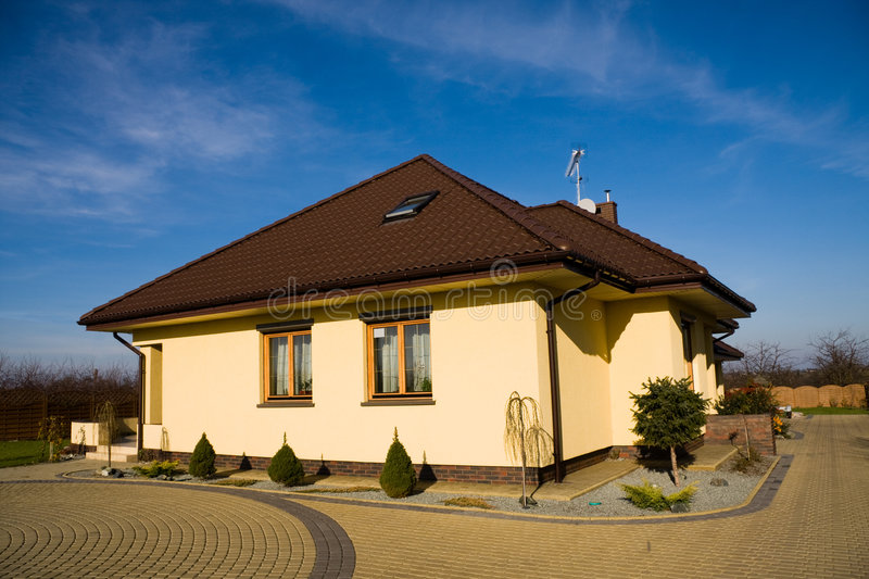 Download Single family small house stock image. Image of exterior - 8586177
