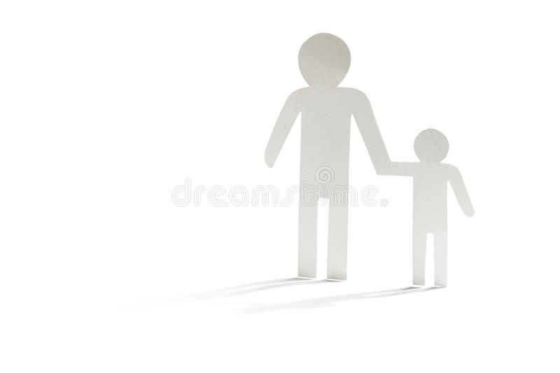Single father with son stock images