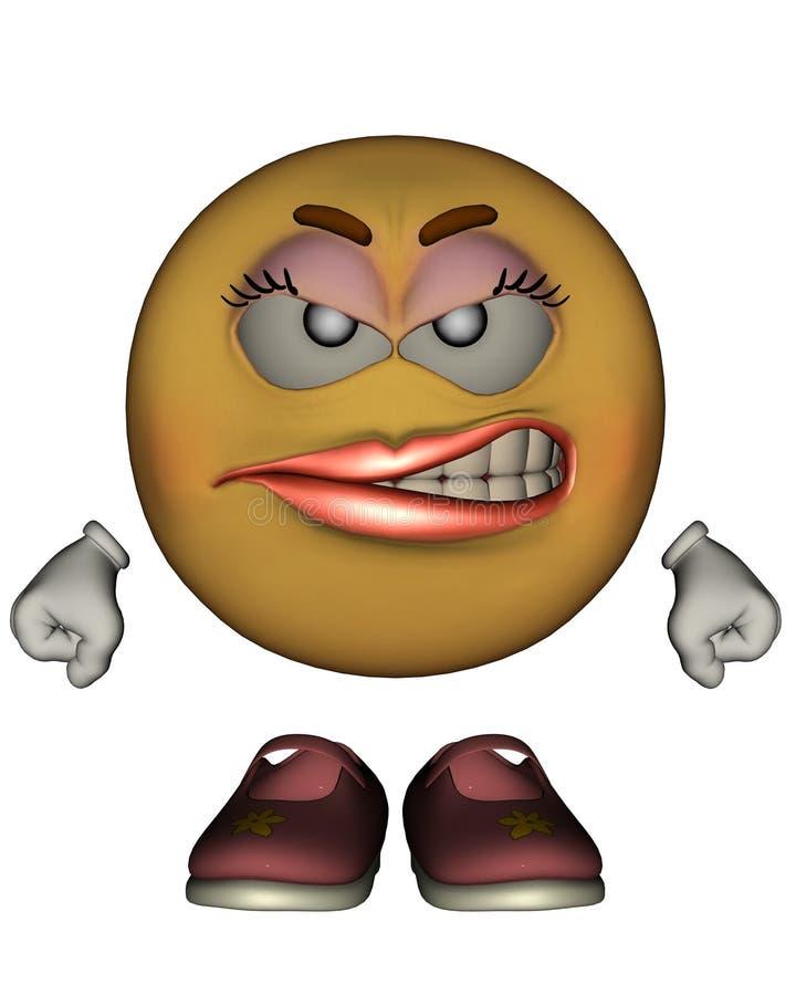 Single Female Emoticon stock illustration