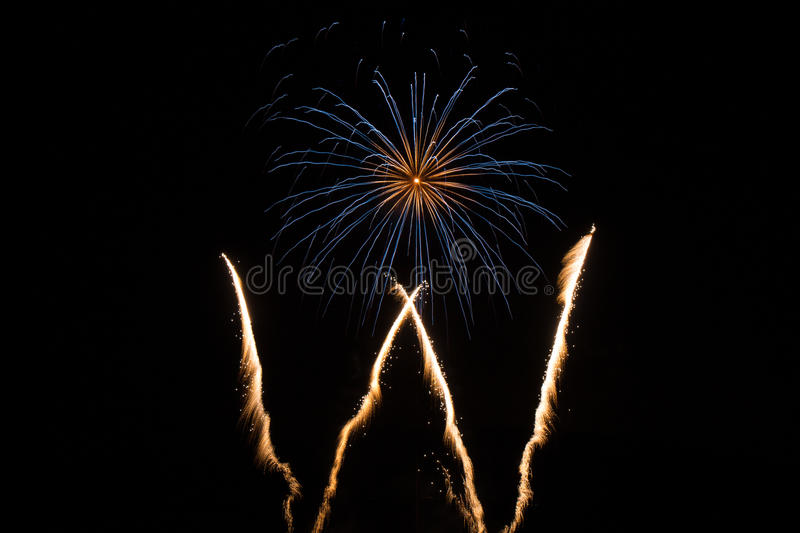 Single Firework in the sky stock image