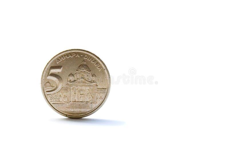 Download Single Five Serbian Dinara Coin Stock Image - Image: 12534553