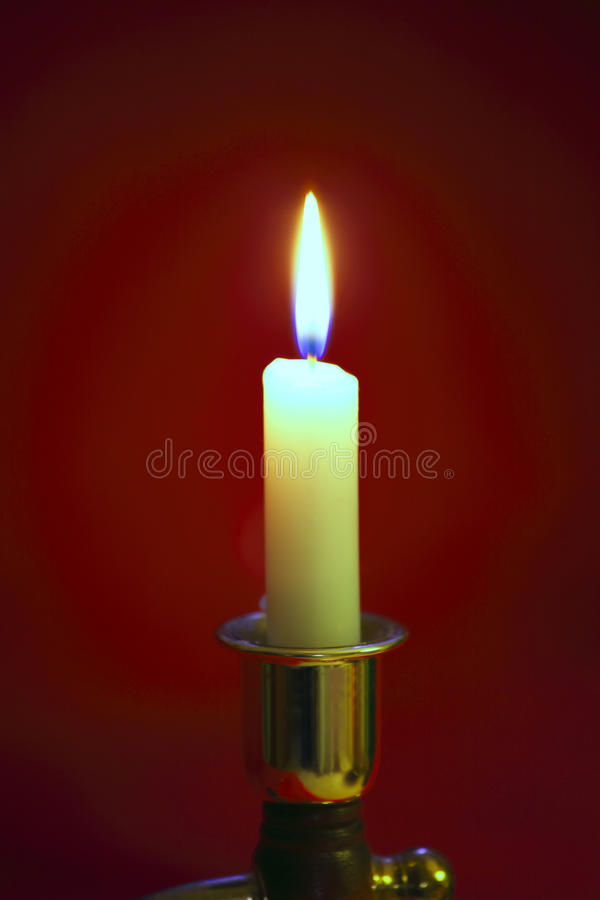A single flame. royalty free stock photos