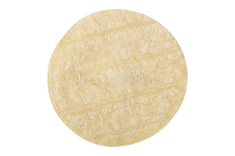 Flour Tortilla Isolated On White stock images