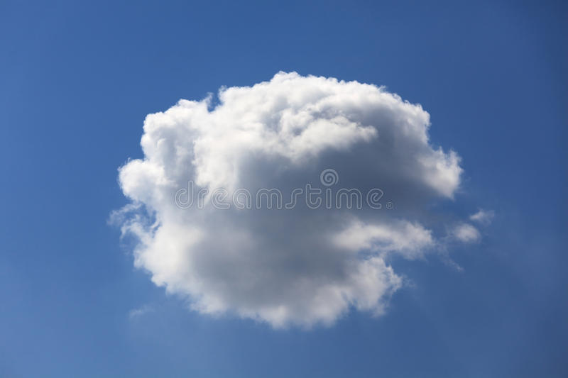 Download Single fluffy cloud. stock image. Image of up, cumulus - 28191205