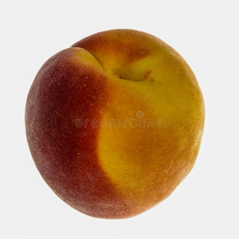 A Single Fresh Peach. A Single Fresh Ripe Juicy Peach royalty free stock images