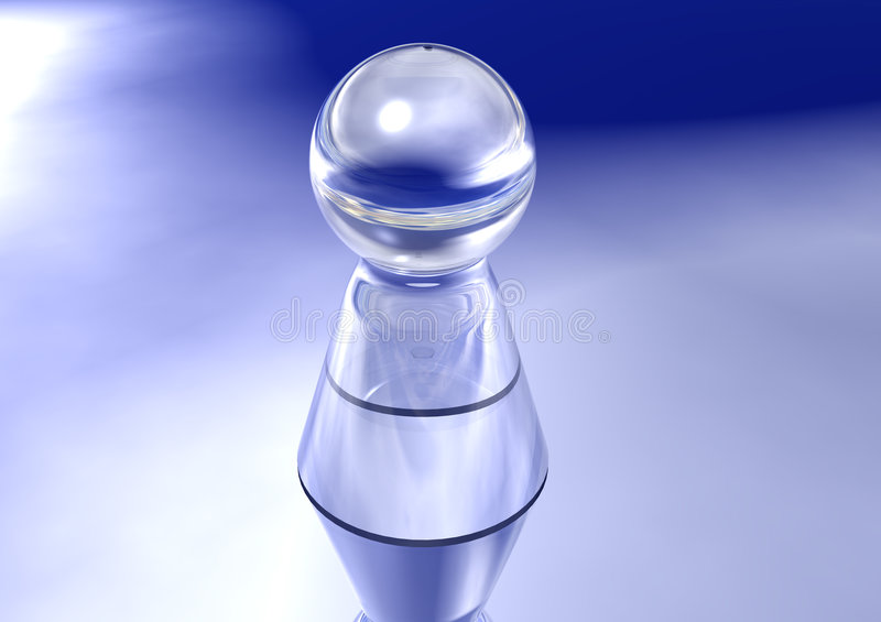 Single Glass Pawn Royalty Free Stock Images