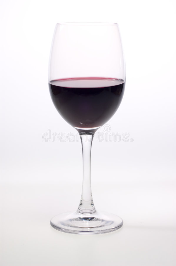 Single glass of red wine royalty free stock photography