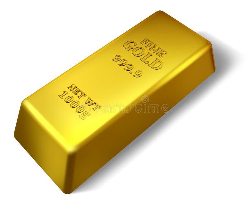 Download Single gold bar stock illustration. Image of bouillon - 18611718