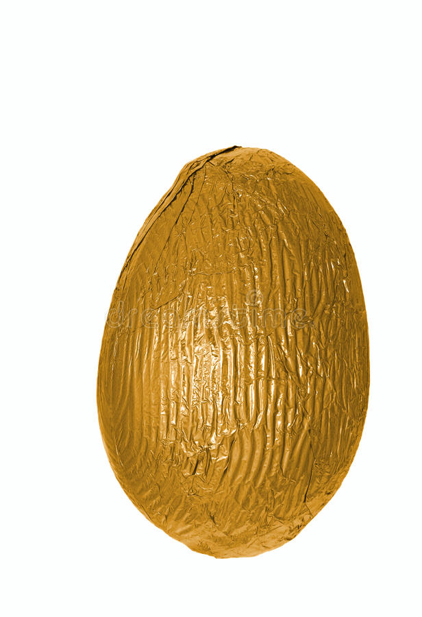 Single Golden Easter Egg Stock Image