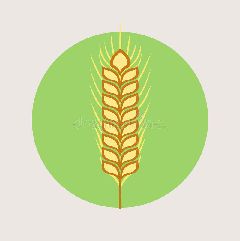 Single grain vector flat design icon royalty free illustration