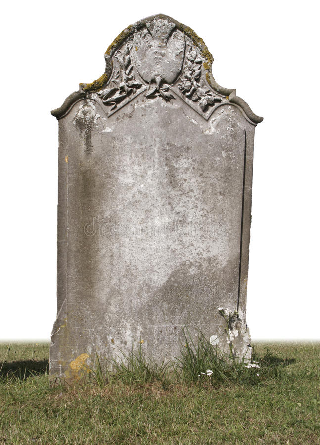Single grave stone royalty free stock photography