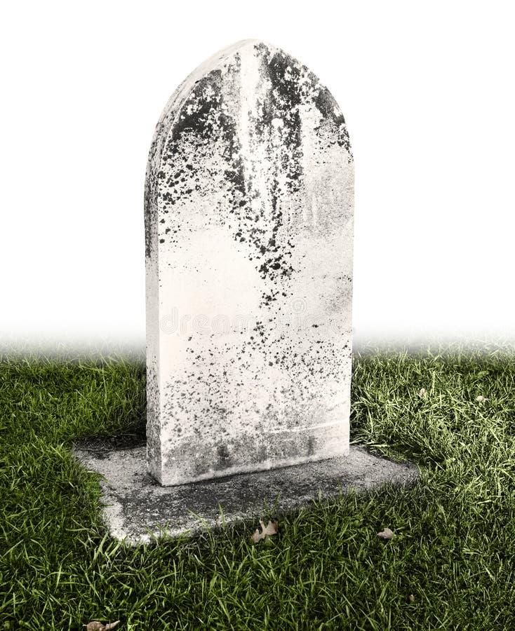 Single grave stone stock photo
