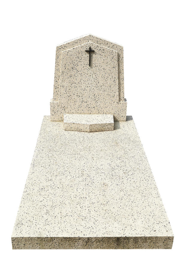Single grave stone cut out royalty free stock photography